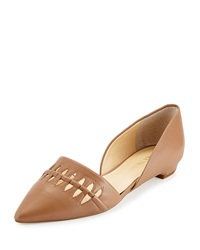 Ivanka Trump Teigan Leather D'orsay Flat Natural