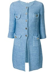 Charlott Knit Coat Blue