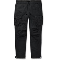 John Elliott Black Panorama Slim Fit Cotton Ripstop Cargo Trousers Black