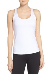 Alo Yoga Women's Patina Tank With Shelf Bra White Buff