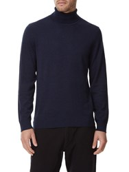 Austin Reed Merino Navy Marl Roll Neck Jumper
