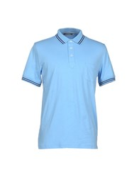 Andrea Fenzi Topwear Polo Shirts Men Sky Blue