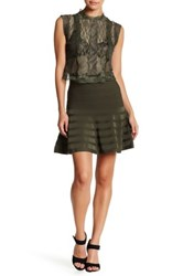 Romeo And Juliet Couture Knit Flared Skirt Green