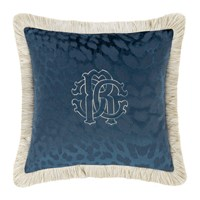 Roberto Cavalli Monogram Cushion Blue