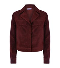 Vince Suede Jacket Female Red