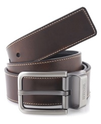 Kenneth Cole Reaction Leather Reversible Casual Belt Brown Black