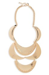 Natasha Metal Statement Necklace Gold