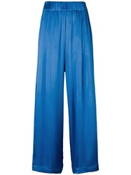 Semicouture High Rise Trousers Blue