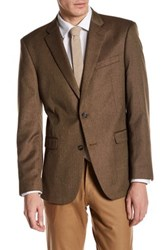 Tommy Hilfiger Ethan Brown Herringbone Two Button Notch Lapel Jacket