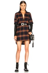 Adaptation Double Sleeve Shirt Dress In Multi
