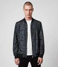 Allsaints Morton Bomber Jacket Washed Black Camo