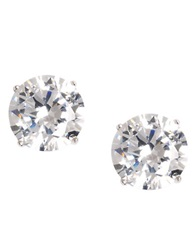 Lord And Taylor Platinum Plated Cubic Zirconia Stud Earrings