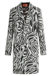 Missoni Zebra Print Wool Coat Multicolor