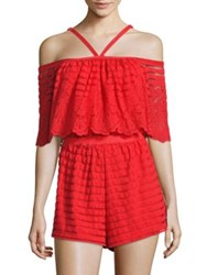 Alice Mccall Diamond Dancer Heart Of Gold Playsuit Scarlet