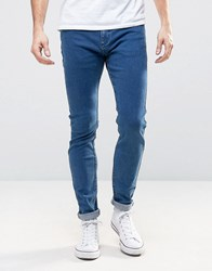 Rollas Stinger Low Rise Super Skinny Jean True Blue Tint Wash 2340 True Blue Tint