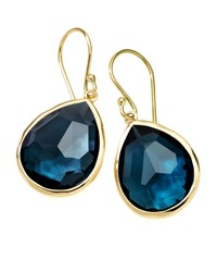 Ippolita Medium Teardrop Earrings London Blue Topaz Size M