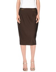 Plein Sud Jeans Plein Sud Skirts 3 4 Length Skirts Women Dark Brown