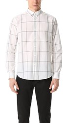 Theory Zack Large Grid Shirt Parchment