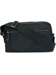Borbonese Top Zip Messenger Bag Blue
