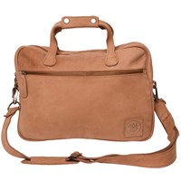 Mahi Leather Compact Lightweight Laptop Work Case Satchel Bag With 13 Capacity In Vintage Cognac Neutrals