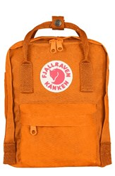 Fjall Raven Fjallraven 'Mini Kanken' Water Resistant Backpack Orange Burnt Orange