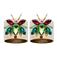 Joanna Buchanan Rainbow Bug Peridot Napkin Rings Set Of 2