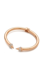 Vita Fede Mini Titan Crystal Bracelet Rose Gold Clear