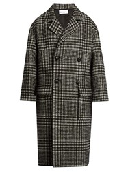 Raey Hound's Tooth Great Coat Black