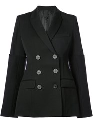 Vera Wang Double Breasted Blazer Wool Black