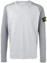 Stone Island Raglan Sweater Men Cotton Xl Grey