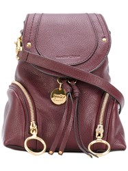 See By Chloe Polly Backpack Women Calf Leather One Size Red
