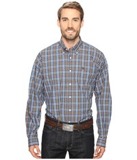 Cinch Long Sleeve Plain Weave Plaid Multicolored 2 Men's Long Sleeve Button Up Gray