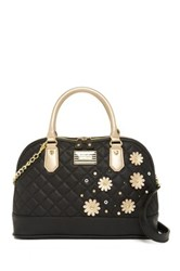 Betsey Johnson Be Mine Dome Satchel Black