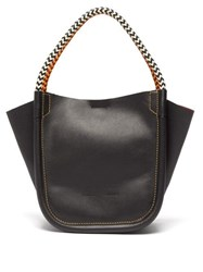 Proenza Schouler Xs Rope Handle Leather Tote Black