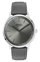 Hugo Boss Exist Leather Strap Watch 40Mm