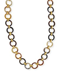 Ashley Pittman Mtego Mixed Horn Link Necklace Multi