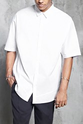 Forever 21 Slim Fit Woven Shirt White