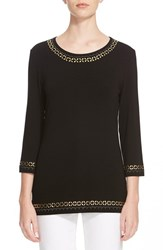 Women's St. John Collection Embellished Jersey Tee