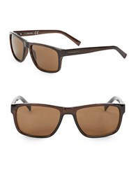 Calvin Klein 57Mm Rectangular Sunglasses Espresso