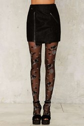 Darkness Falls Floral Tights 77728