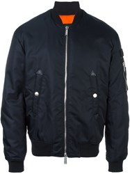 Dsquared2 'Military' Bomber Jacket Blue