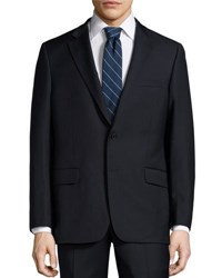 Hickey Freeman Classic Wool Two Piece Suit Navy
