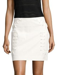 Derek Lam Twill Mini Skirt Soft White