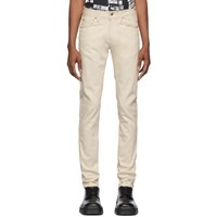 Naked And Famous Denim Off White Natural Seed Super Guy Jeans