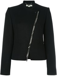 Stella Mccartney Asymmetrical 'Falabella' Cropped Jacket Black