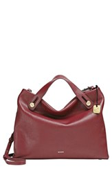 Skagen 'Mikkeline' Leather Satchel Red Cordovan