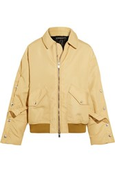 Y Project Oversized Shell Bomber Jacket Beige