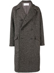 Julien David Classic Double Breasted Coat Brown