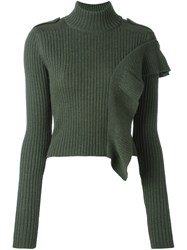 Each X Other Ruched Turtleneck Jumper Green