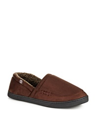 Isotoner Memory Foam Slippers Brown